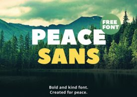 دانلود رایگان فونت لاتین مناسب تایپو گرافی | Peace Sans