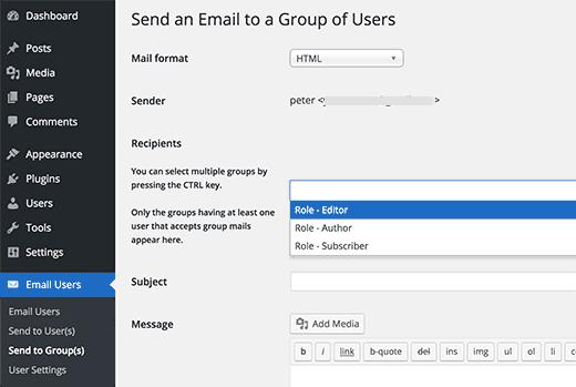 ارسال ایمیل گروهی