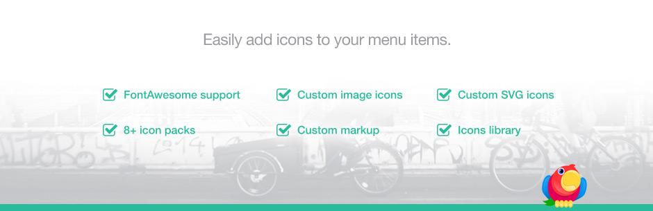 افزونه Menu Icons by ThemeIsle | افزون آیکون به منوی وردپرس