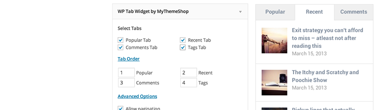 افزونه WP Tab Widget