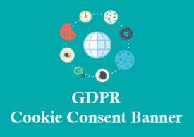 دانلود افزونه GDPR Cookie Consent Banner برای وردپرس