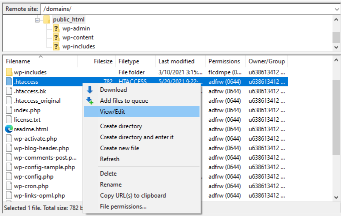 FTP view edit - محدودیت حافظه وردپرس - نحوه افزایش PHP Memory Limit