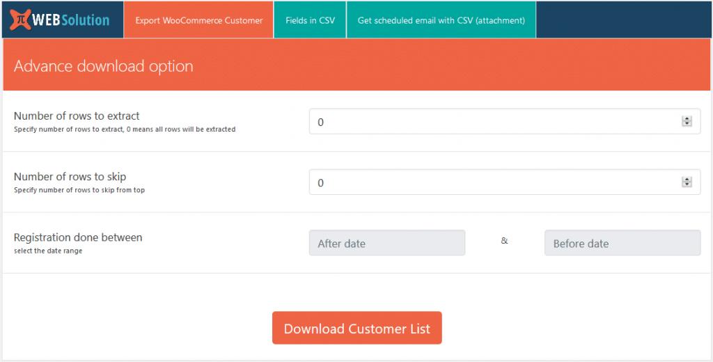 WooCommerce Export Customer List CSV 1024x520 - نحوه خروجی گرفتن از کاربران در وردپرس