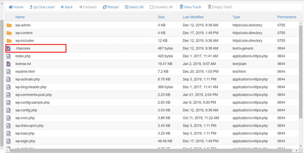 cPanel htaccess 1024x518 1 - نحوه ایجاد فایل .htaccess در سی پنل - سریع و آسان