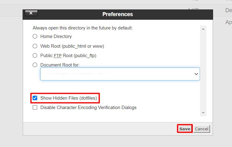 cPanel show hidden files - نحوه ایجاد فایل .htaccess در سی پنل - سریع و آسان