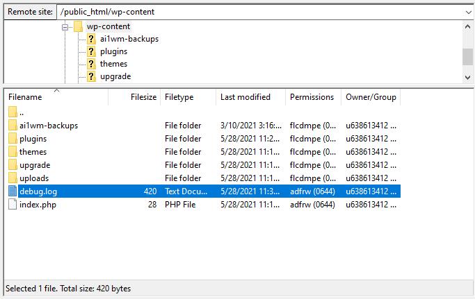 debug log - نحوه فعال کردن Error Logs در وردپرس
