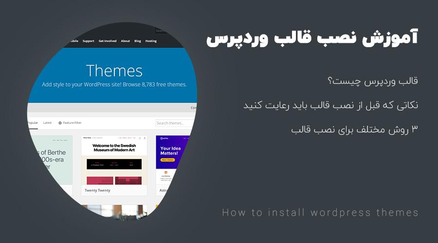 how to install wordpress themes - آموزش نصب قالب وردپرس