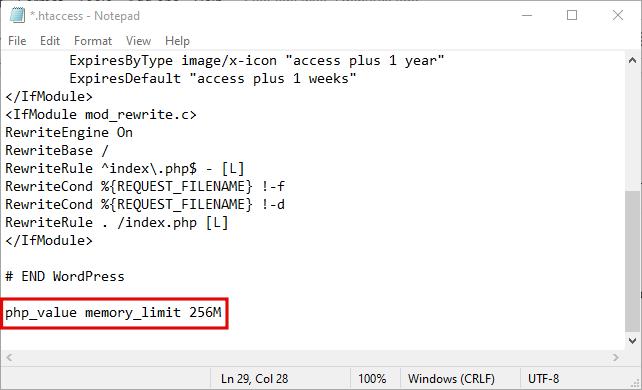 memory limit - محدودیت حافظه وردپرس - نحوه افزایش PHP Memory Limit