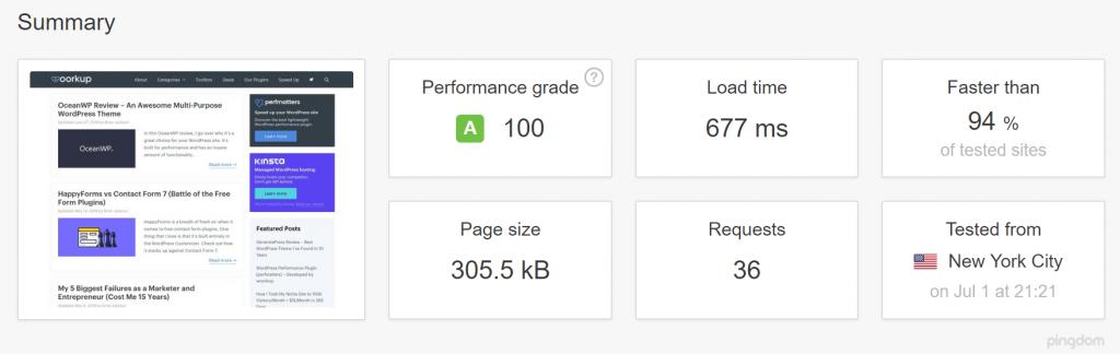 no wordpress caching speed test 1024x324 - 7 تا از بهترین افزونه های کش وردپرس برای افزایش سرعت
