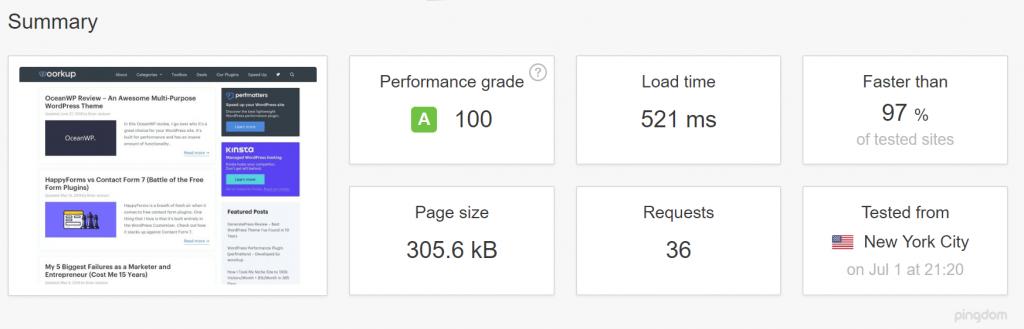 wordpress caching speed test 1024x329 - 7 تا از بهترین افزونه های کش وردپرس برای افزایش سرعت