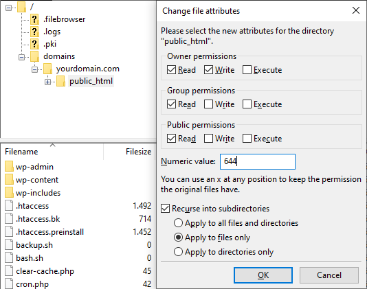 FTP changes - خطای 403 چیست و چگونه باید آن را رفع کرد؟ (8 روش مختلف)