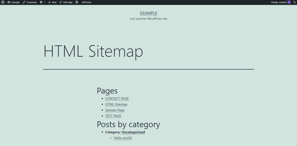 HTML sitemap example - نقشه سایت وردپرس چیست و چگونه می توان آن را ایجاد کرد؟