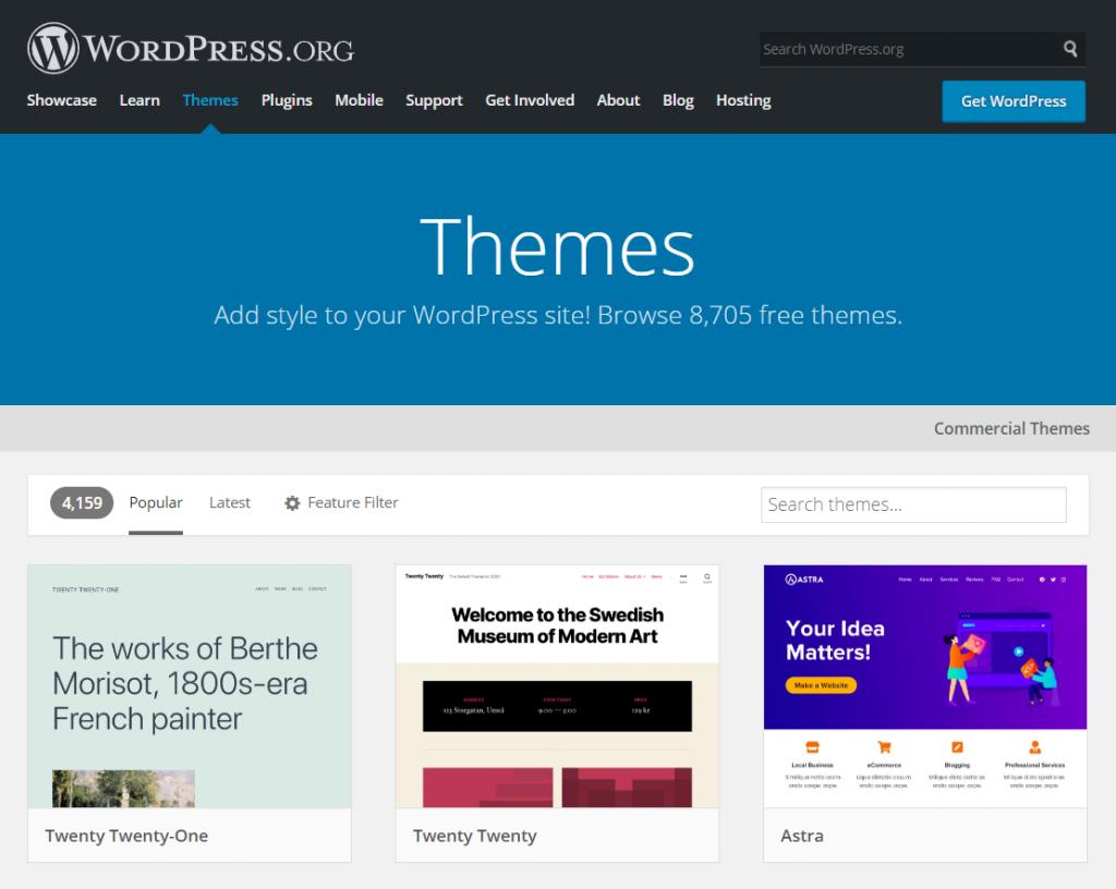 WordPress themes 1024x816 1 - چگونه می توان وب سایت خود را از جوملا به وردپرس منتقل کرد + در 5 مرحله