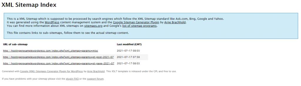 XML sitemap index 1024x295 1 - نقشه سایت وردپرس چیست و چگونه می توان آن را ایجاد کرد؟