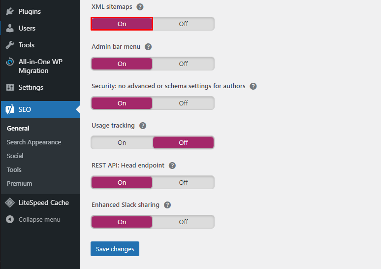 XML sitemaps on - نقشه سایت وردپرس چیست و چگونه می توان آن را ایجاد کرد؟