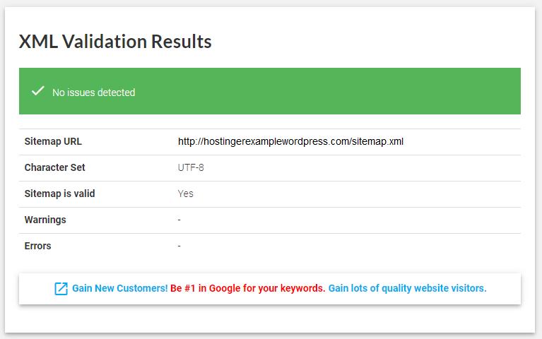 XML validation results - نقشه سایت وردپرس چیست و چگونه می توان آن را ایجاد کرد؟