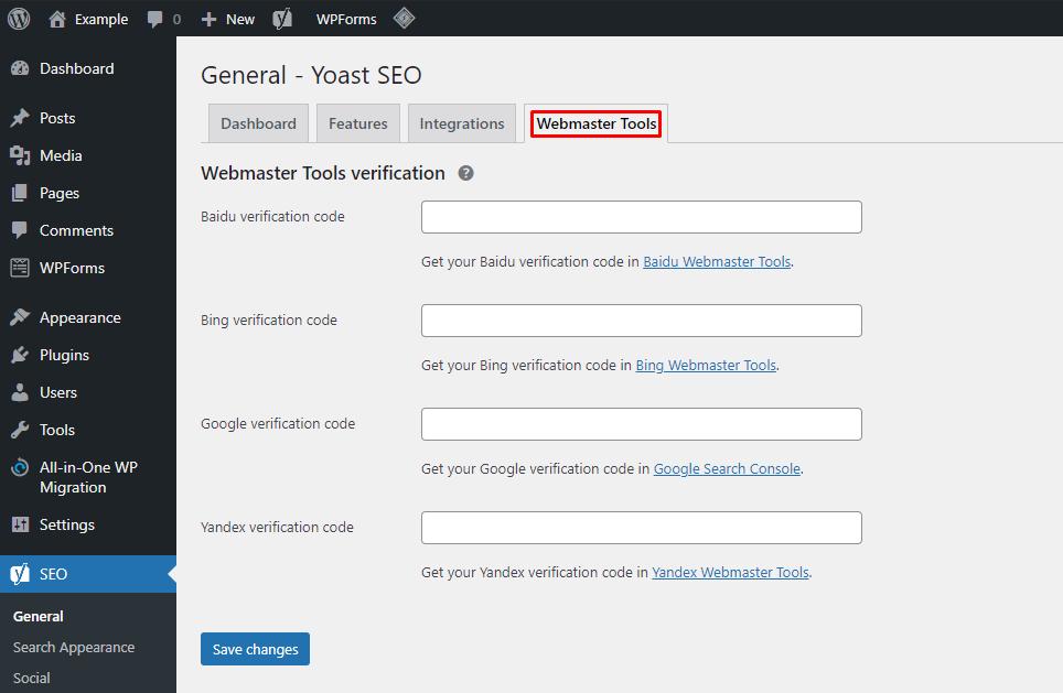 Yoast SEO webmaster tools - نقشه سایت وردپرس چیست و چگونه می توان آن را ایجاد کرد؟