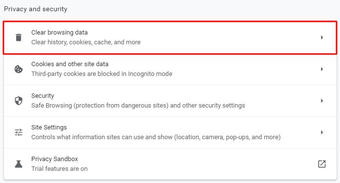 clear browsing data - خطای 403 چیست و چگونه باید آن را رفع کرد؟ (8 روش مختلف)