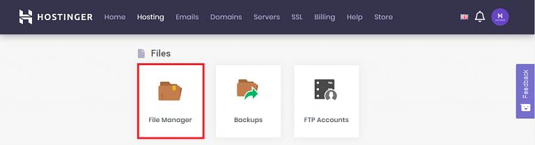hostinger hpanel file manager 768x209 1 - افزایش محدودیت حجم آپلود فایل در وردپرس