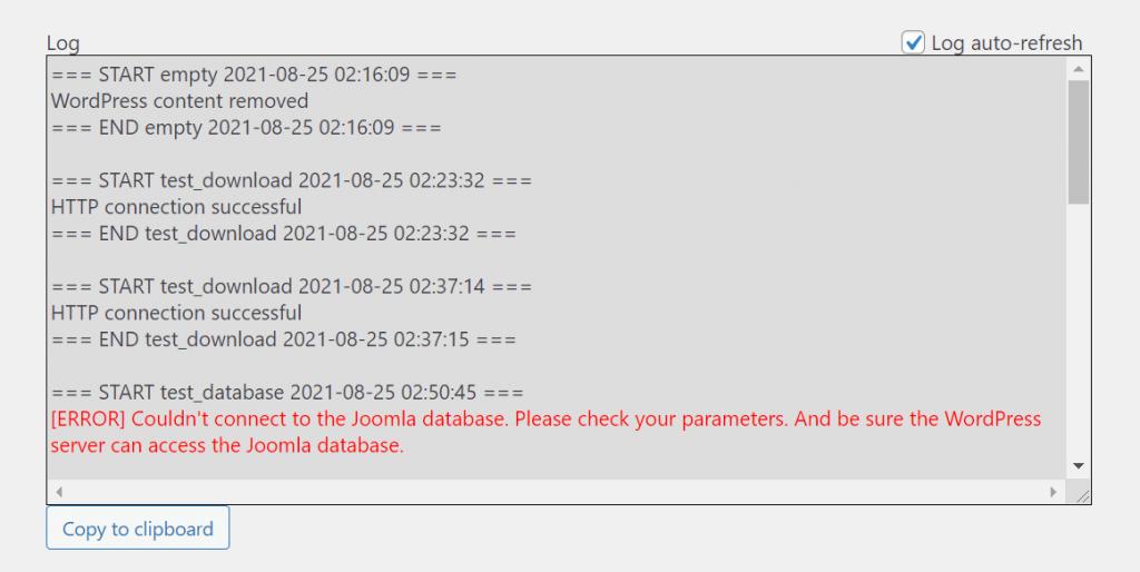 log error 1024x514 1 - چگونه می توان وب سایت خود را از جوملا به وردپرس منتقل کرد + در 5 مرحله