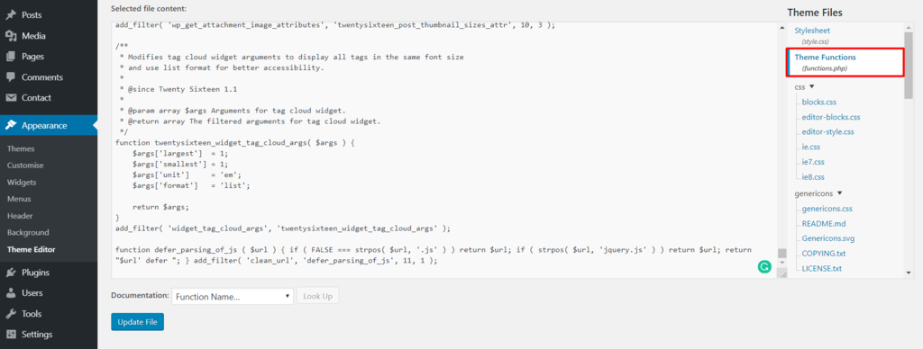 open theme editor to defer parsing of javascript - نحوه Defer Parsing of JavaScript در وردپرس