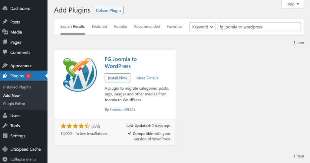 plugins add new - چگونه می توان وب سایت خود را از جوملا به وردپرس منتقل کرد + در 5 مرحله
